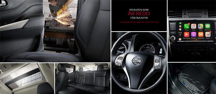 Nissan Navara N Guard interiör hos Bilkompaniet