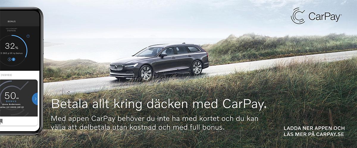 Betala allt kring däcken med CarPay