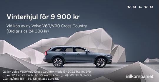 Vinterhjul för 9900 kr vid köp av en ny Volvo V60 / V90 Cross Country